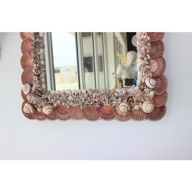 Seashell Encrusted Mirror by Snob Galeries For Sale - Image 4 of 13