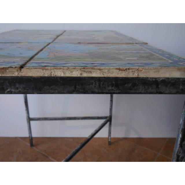 Vintage Persian Tile Coffee Table - Image 10 of 11