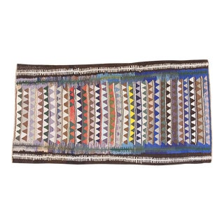 "Handmade Vintage Persian Kilim - 9'10"" X 5'3"