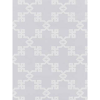 Sample, Scalamandre Suzhou Lattice, Lavender Wallpaper For Sale