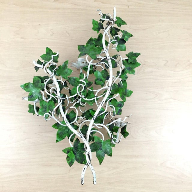 Italian Ivy Tole Candle Sconces - A Pair - Image 7 of 7
