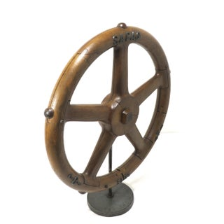 Vintage Iron Foundry Wheel Mold With Stand Preview