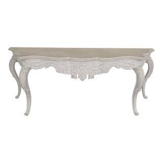 White Wash Console Table For Sale