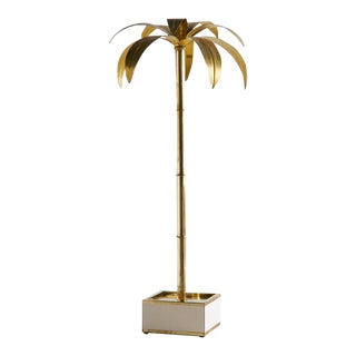 Spanish Brass Palm Tree Lamp For Sale
