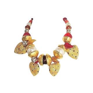 1990s Ferrandis Heart Charm Necklace For Sale