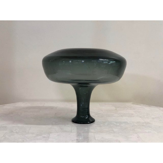 1950s Mid-Century Modern Wayne Husted for Blenko Charcoal Blown Glass Decanter For Sale - Image 10 of 11