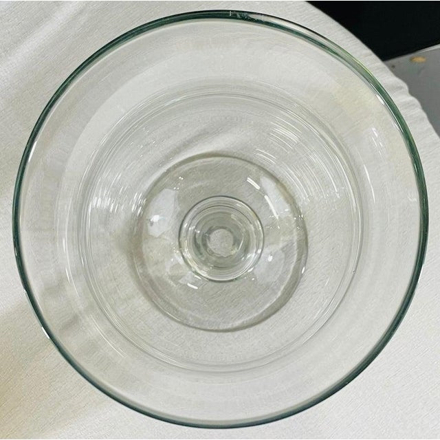 Modern Clear Glass Candleholder or Vase, a Pair For Sale - Image 9 of 10