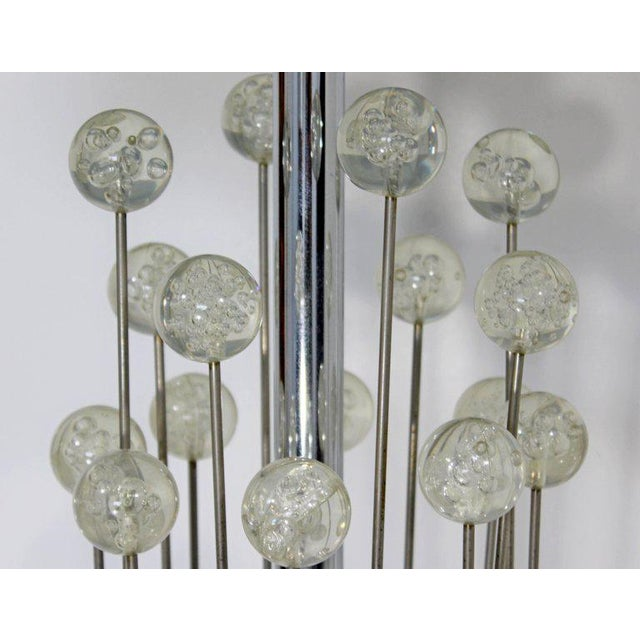 Metal Mid-Century Modern Chrome Floor Lamp Lucite Balls by Laurel For Sale - Image 7 of 11