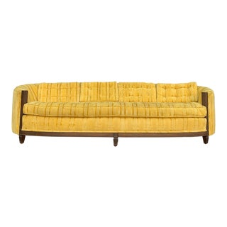 1960s Vintage Golden Yellow Oval Sofa For Sale