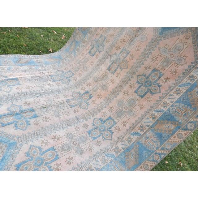 Islamic Vintage Distressed Turkish Oushak Rug 6′3″ × 8′8″ For Sale - Image 3 of 13
