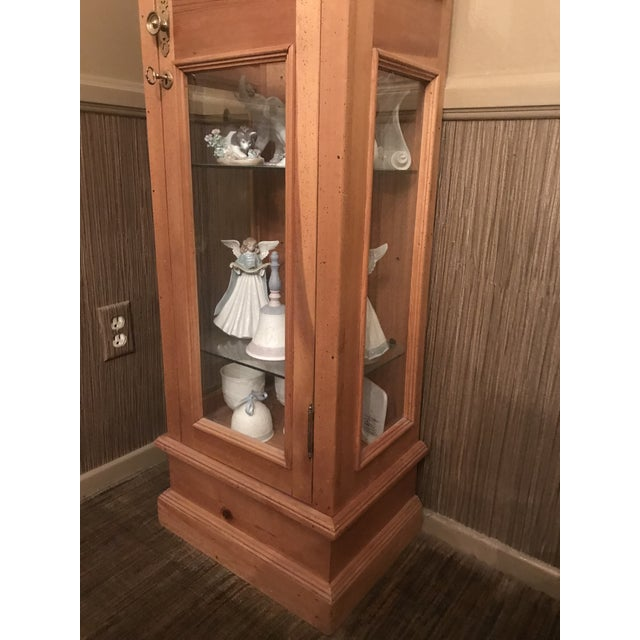 Pine Curio Cabinet For Sale In Los Angeles - Image 6 of 7