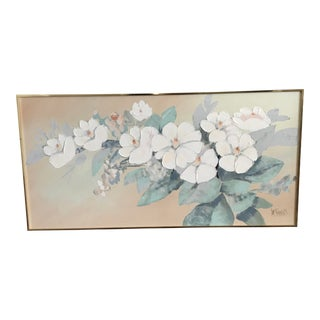 Vintage Mid-Century Lee Reynolds Magnolia Painting For Sale