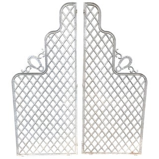 Wonderful Vintage Set of Iron Architectural Garden Gates For Sale