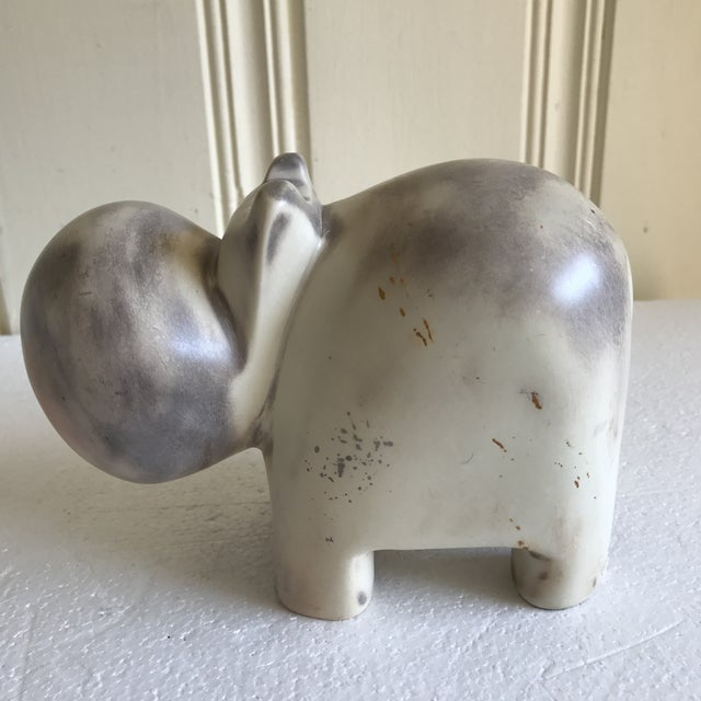African Stone Carved Hippo Sculpture For Sale - Image 4 of 12