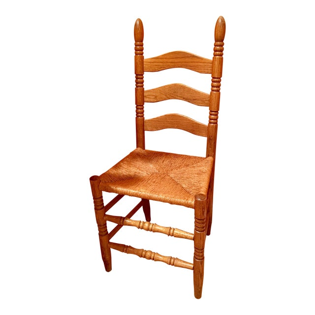 Antique Ladder Back Accent Chair For Sale - Antique Ladder Back Accent Chair Chairish