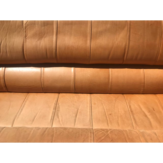 Pacific Green Pacific Green Leather Moorea Sofa For Sale - Image 4 of 11