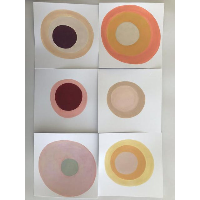 """This is an original painting on paper titled """"Lychee"""" by American artist Neicy Frey. Neicy's DOT series is a collection of..."""