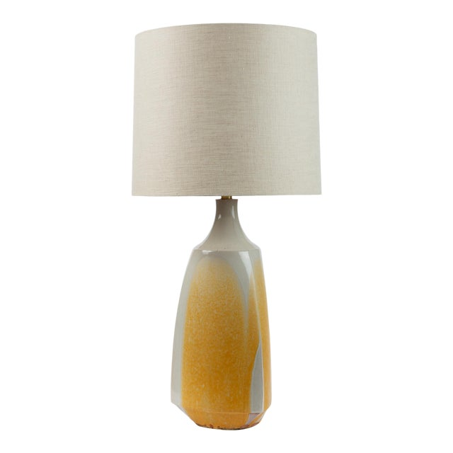 Drip-Glaze Stoneware Lamp by David Cressey for Architectural Pottery For Sale