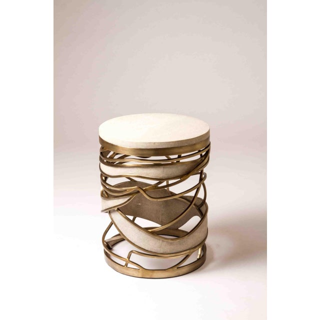 The sculptural and airy Galaxy side table or stool can be used both ways. This is a dramatic piece that showcases the...