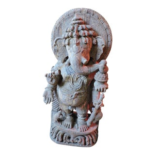Red Granite Ganesh For Sale