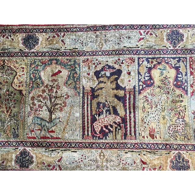 Early 20th Century Antique Silk Turkish Saph Runner Rug - 2′7″ × 8′ For Sale - Image 4 of 9