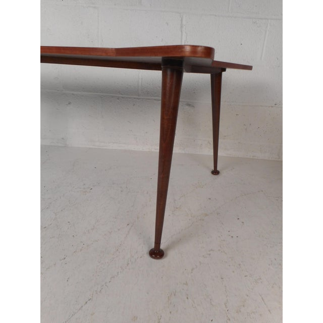 Wood Beautiful Contemporary Modern Boomerang Coffee Table For Sale - Image 7 of 10