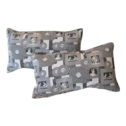 Pair of Original 1950s Fornasetti Fabric Cushions For Sale