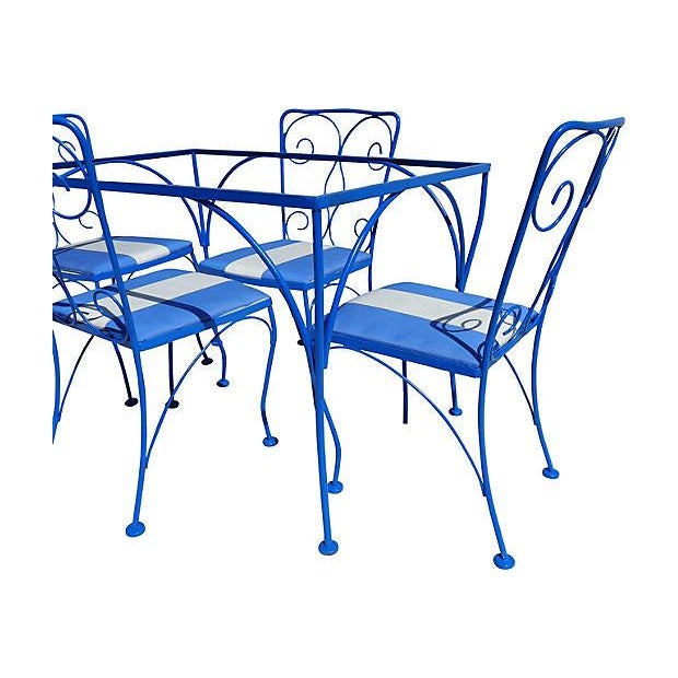 Mid Century Modern Iron Outdoor Set - Image 4 of 5