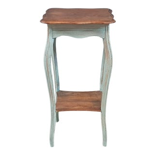 Vintage Shabby Chic Louis XV Side Table For Sale