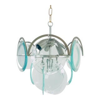 1960s Mid-Century Modern Murano Glass Chandelier by Gino Vistosi, Italy For Sale