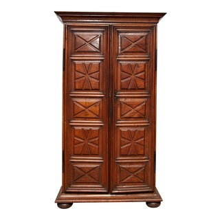 1900s French Provence Walnut Cabinet For Sale