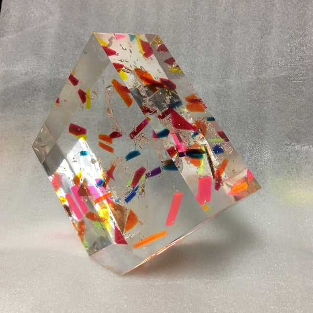 """Confetti"" Acrylic Geometric Sculpture For Sale In New York - Image 6 of 7"