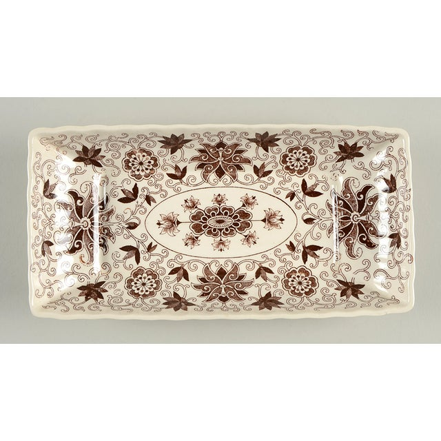 Ceramic Mason's Bow Bells Brown Tray For Sale - Image 7 of 7