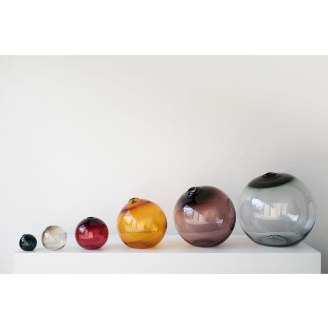 """SkLO Float Glass Vessel 6"""" - Olivin For Sale - Image 4 of 5"""