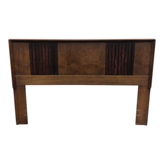 Mid Century Modern Headboard With Panels Retro Dovetailed For Sale