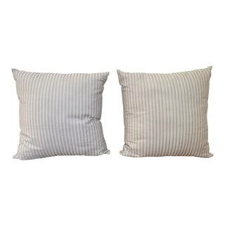 Frette Throw Pillows - a Pair For Sale