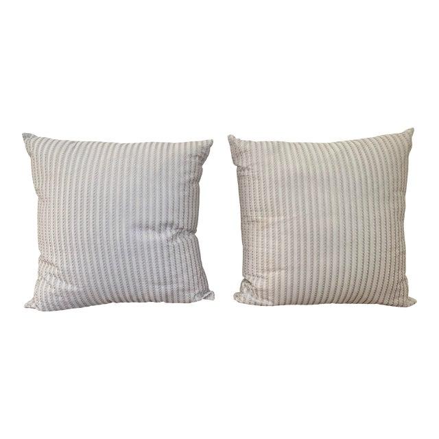 Frette Throw Pillows - a Pair For Sale