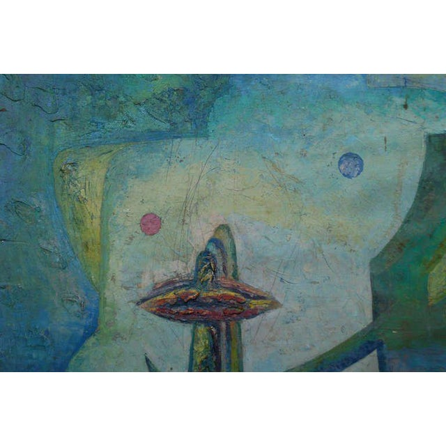 Latin American Abstract Surrealist Original Painting For Sale - Image 4 of 6