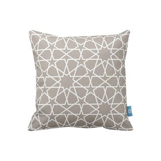 Beige Star Design Decorative Pillow Cover