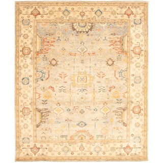 """Pakistani Hand-Knotted Rug-7'10"""" X 9'4"""" For Sale"""