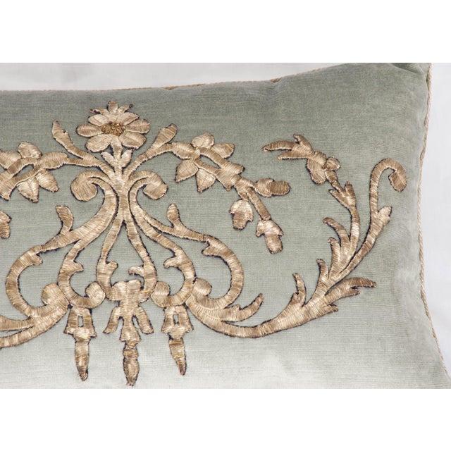 Empire B. Viz Design Antique Empire Textile Pillow For Sale - Image 3 of 5