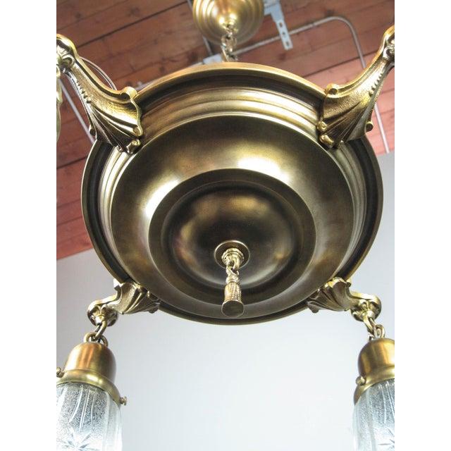 Original Pan Light Fixture (4-Light) For Sale - Image 5 of 8