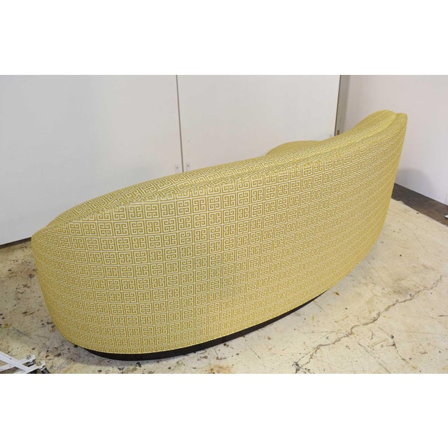 Custom Kidney Shaped Sofa With Kravet Fabric For Sale - Image 4 of 12