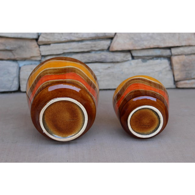 Mid-Century Ceramic Planters - A Pair For Sale In Phoenix - Image 6 of 10