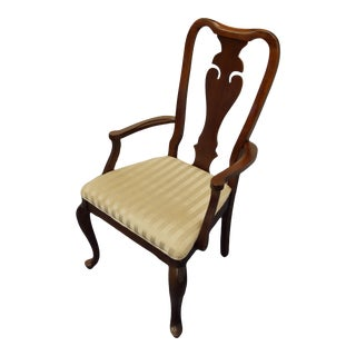Bernhardt Furniture Mahogany Traditional Dining Arm Chair For Sale