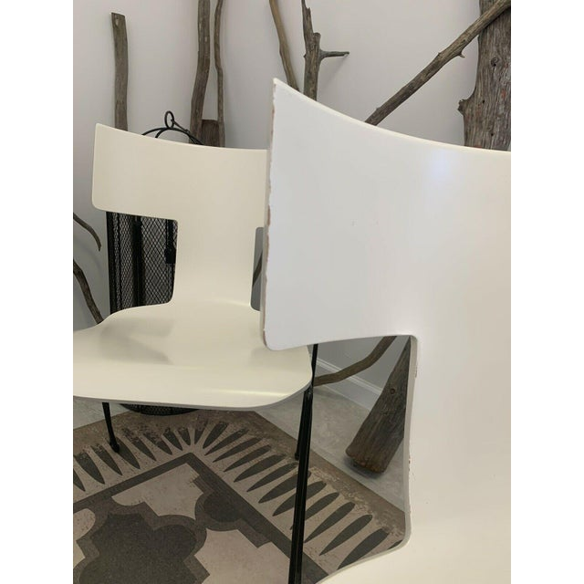 Vintage Donghia Anziano Dining Chairs in White - Set of 8 For Sale - Image 6 of 11
