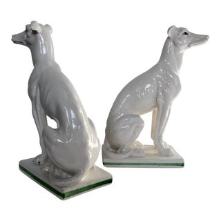Blanc De Chine Italian Greyhound's , a Pair For Sale