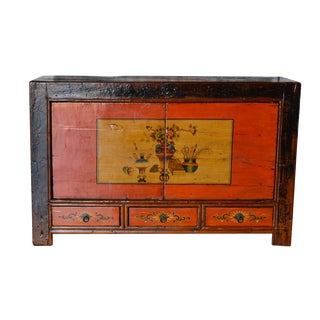 Vintage Chinese Mongolian Era Lacquered Buffet/Sideboard