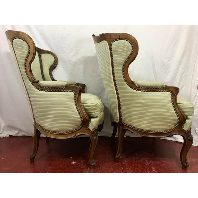1900 - 1909 Louis XV Style Walnut Bergers a Pair For Sale - Image 5 of 10