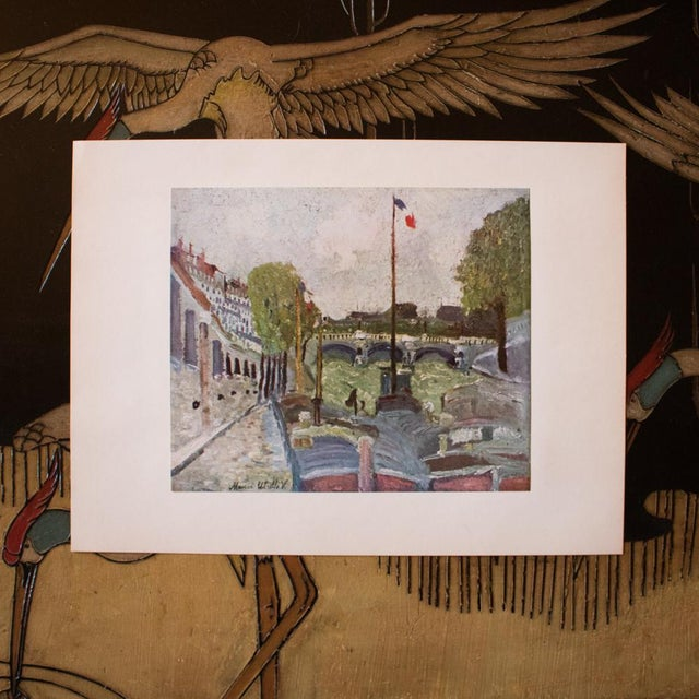 French 1950s Maurice Utrillo, Pont Neuf, Paris First Edition Lithograph For Sale - Image 3 of 8
